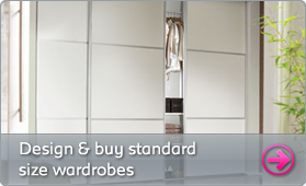 Design and buy standard size wardrobes