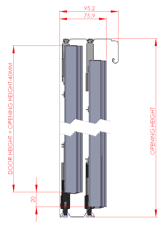 standard sliding wardrobe technical specifications