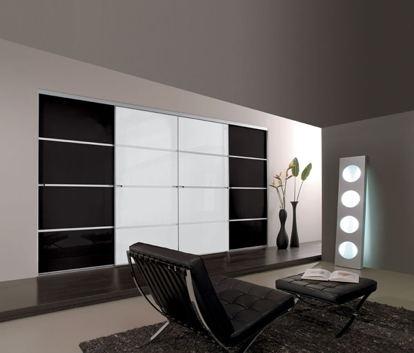 minimalist soft close standard size sliding wardrobe doors. Black Bedroom Furniture Sets. Home Design Ideas