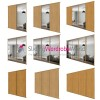 OAK & MIRROR 'Classic'  Sliding Wardrobe Door Kits (All sizes)