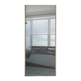 Maple Framed Sliding Mirror Door