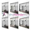 SILVER Frame Mirror 'Stanley Design' Sliding Wardrobe Door Kits (All Sizes)