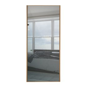Beech Framed Sliding Mirror Door