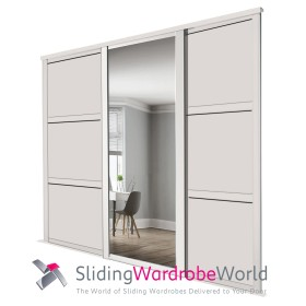 Cashmere Shaker: (1 Mirror 2 Wideline Panel)