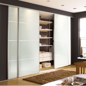Arctic White Glass 4 Panel Doors