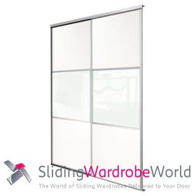 2 White Wideline Sliding Wardrobe Doors