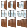 SHAKER Walnut Sliding Door Kits (All size & design options)