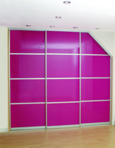 Angled Sliding Wardrobe Door for Sloping Ceilings