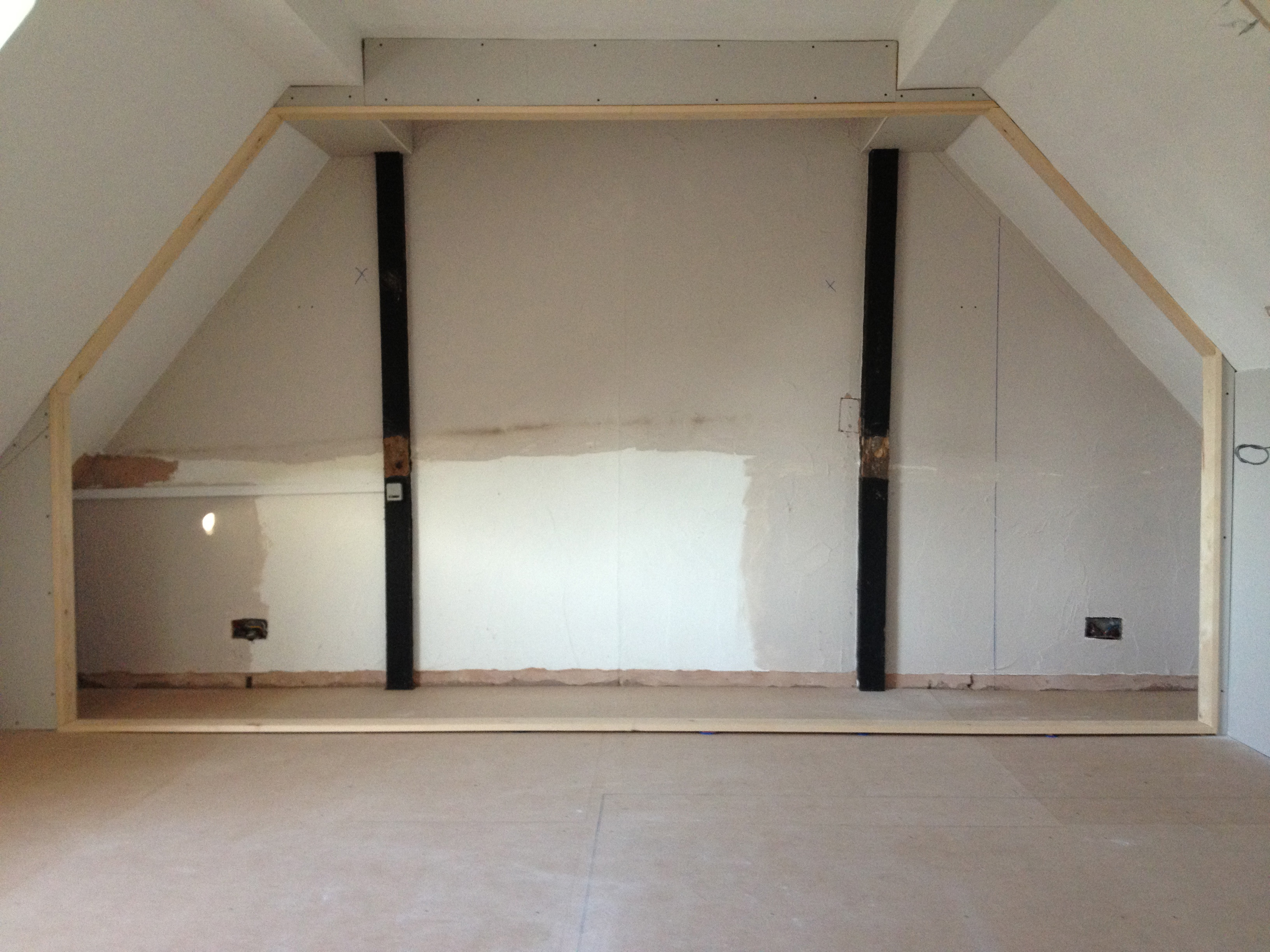 Angled Sliding Wardrobe Door opening in a loft conversion & Angled \u0026 Sloping Sliding Wardrobe Doors - How to prepare your ...