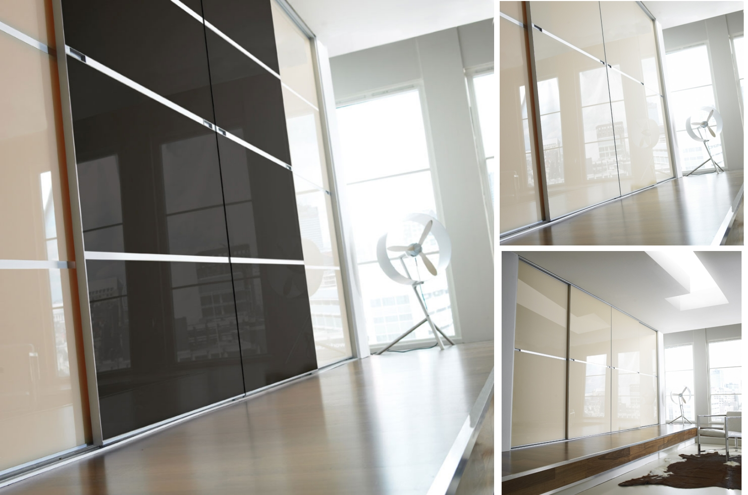 Sliding wardrobe doors and wardrobe interiors minimalist for Sliding wardrobe interior designs