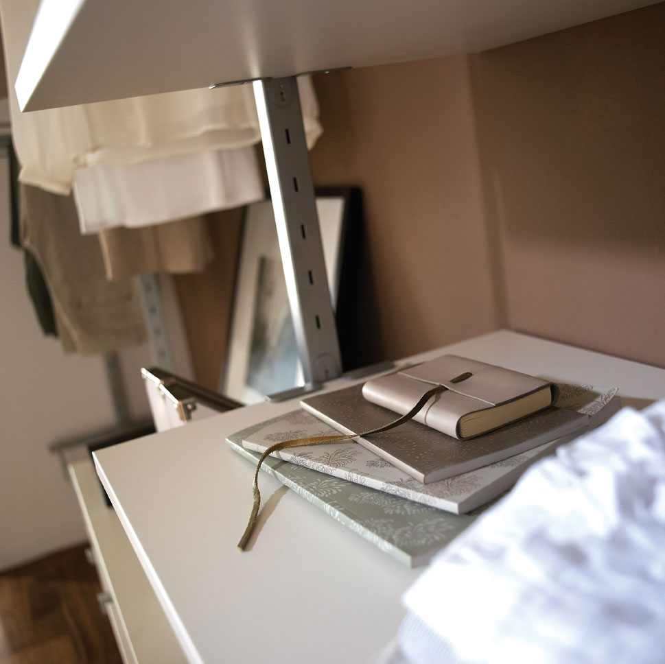 Aura White Wardrobe Interior Detail