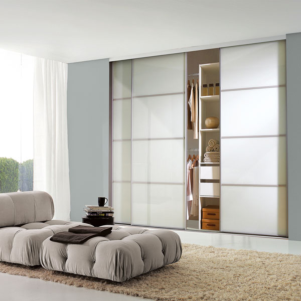 Pure White Glass Classic 4 Panel Doors
