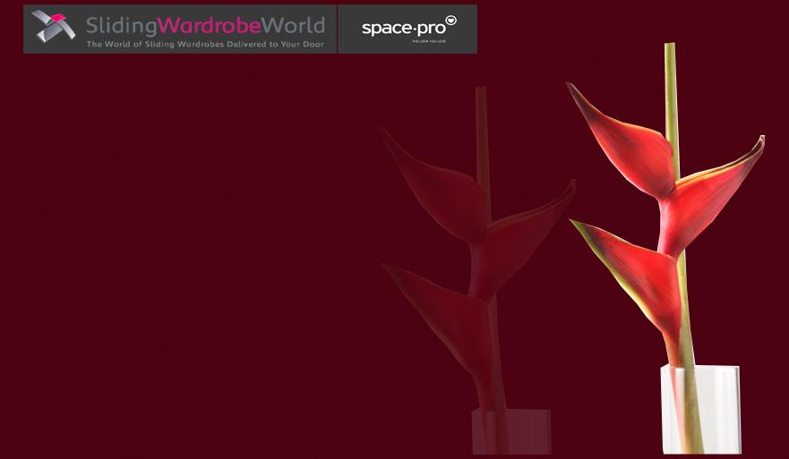 Maroon Glass - Sliding Wardrobe World™ SpacePro™