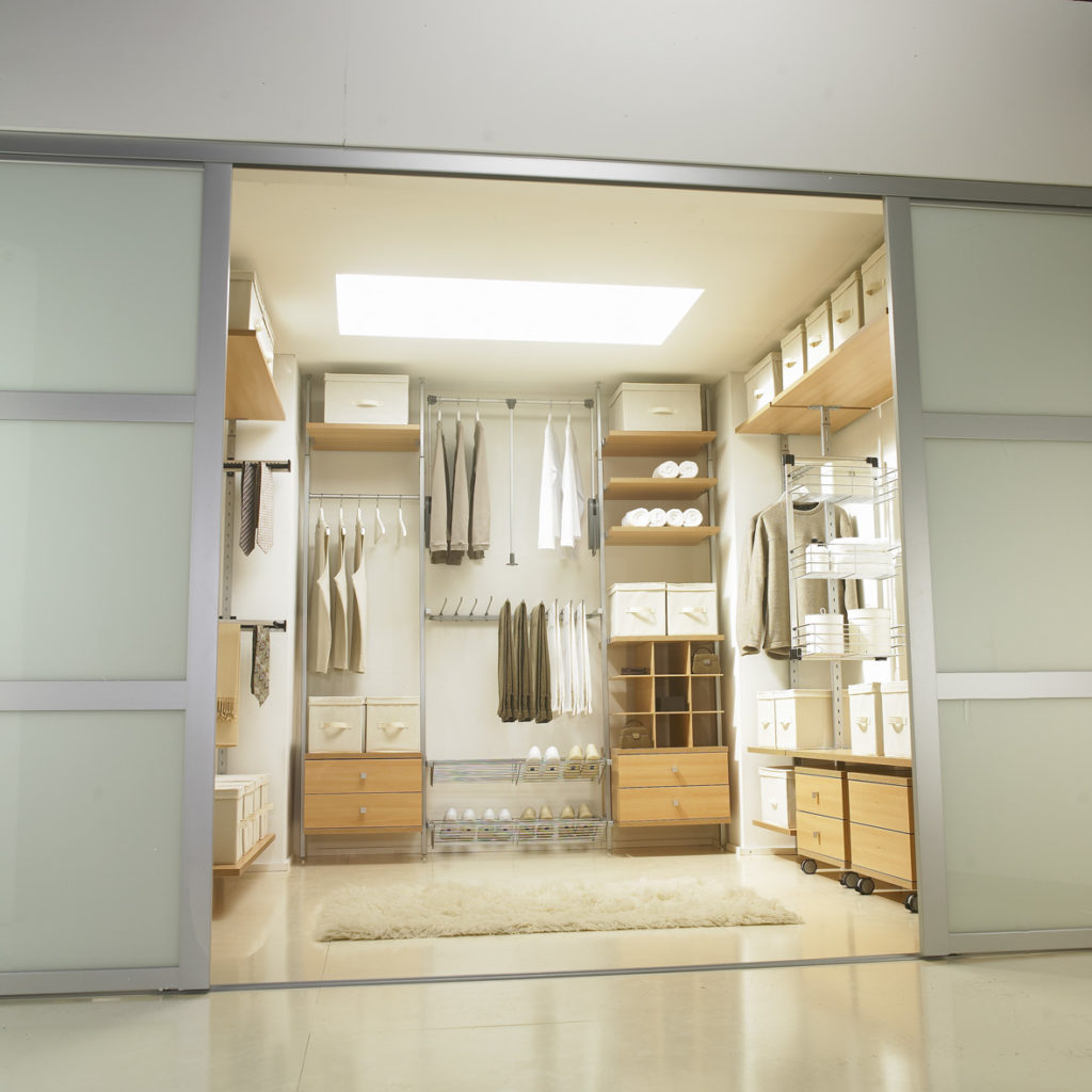 Aura oak walk-in wardrobe