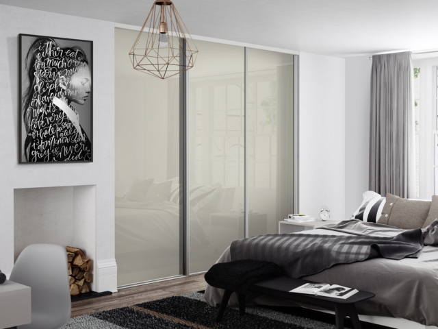 Soft White Sliding Wardrobe Doors